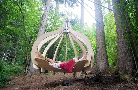 place in the wood for relaxing